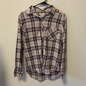 L.A. Hearts Plaid Button Down Shirt